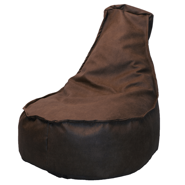 Leather-look-zitzakstoek-tobacco