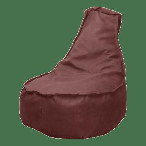 Leather-look-zitzakstoel-bordeaux