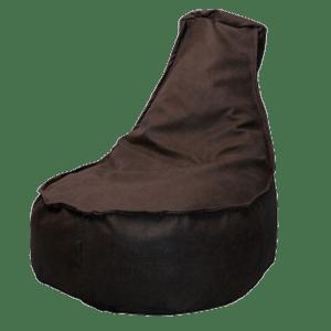 Leather-look-zitzakstoel-cognacbruin