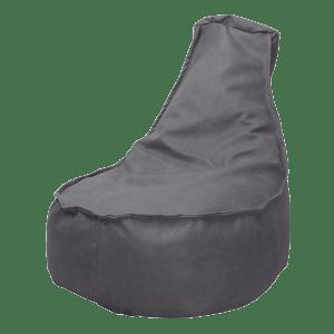 Leather-look-zitzakstoel-grijs