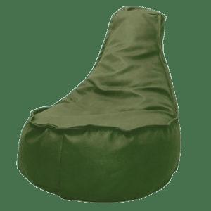 Leather-look-zitzakstoel-olijfgroen