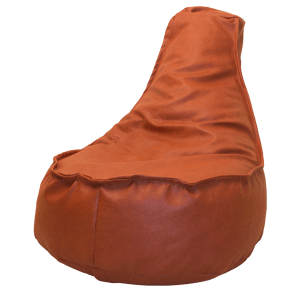 Leather-look-zitzakstoel-oranje