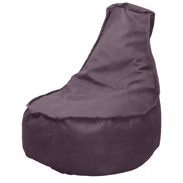 Leather-look-zitzakstoel-paars