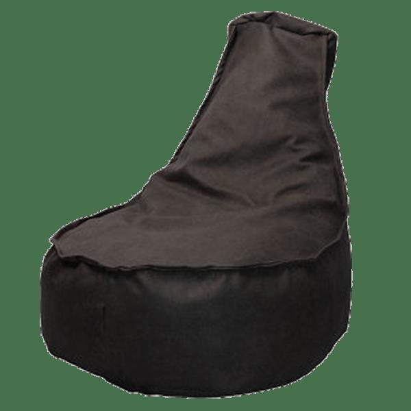 Leather-look-zitzakstoel-taupe
